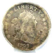 1798/7 Draped Bust Dime 10c 16 Stars - Pcgs Vg Details - Rare Overdate Coin