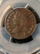 1811 Classic Head Half Cent Extremely Rare Key Date Pcgs Vf Details