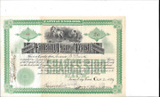 The Fidelity Loan And Trust Company Sioux City,iowa...1889 Stock Certificate