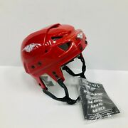 New Mission Intake Fusion Ice Hockey Helmet Small Red Gel Foam S Vent Vintage