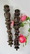 Antique Wood French Pillars Posts Spindles Carved Architectural Baluster Columns