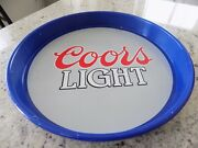 Vintage 1983 Coors Light Serving Tray Blue And Gray Coors Light Logo 13