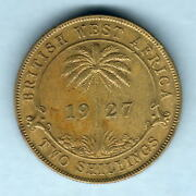 British West Africa. 1927 2 Shillings.. Gvf - Trace Lustre
