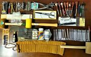 Tandy Craftool Leathercraft Leatherwork Apprentice Tools Patterns Guides Lot