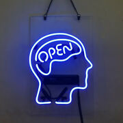 Neon Signs Gift Open Mind Beer Bar Pub Party Home Room Wall Window Display 14x9