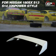 Frp Unpainted 326power Rear Trunk Spoiler Wing Lip For Nissan 180sx S13 S14 S14a
