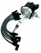 Ignition Distributor With Wire Set For Gm 250 Chevy 230 292 Hei Cap L6