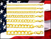 14k Solid Yellow Gold Comfort Curb Link Chain Length From 8 To 30 Inch / C0003