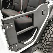 Fab Fours Jl1033-1 Rear Half Tube Door Matte Black For 2018 Jeep Wrangler New