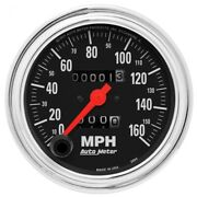 Auto Meter 2494 3-3/8 Traditional Chrome Mechanical Speedometer 0-160mph New
