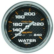 Auto Meter 4832 2-5/8 Carbon Fiber Mechanical Water Temp Gauge120-240anddegf New