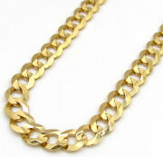 Mens Womens 14k Yellow Gold Solid Cuban Curb Link Chain Necklace 5.5mm 16 - 30