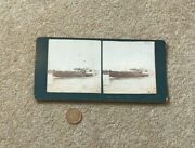 Antique Stereoview Photograph Paddle Steamer Classical Bird Gsn Co