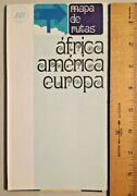Vintage 1968 Iberia Airlines Inflight Route World Map Nos -2287