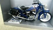 New Ray 1948 Indian Motorcycle Blue 16 Scale Die Cast Road Cruiser Original Box