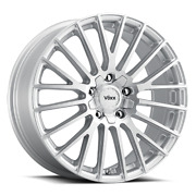 Voxx Capo 17x7.5 +38 Silver Machined Face 5x112 5x120 Qty 4