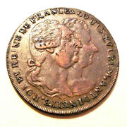 1793 Louis And M Antoinette France Conder / 1/2 Penny Token Lot Dc16
