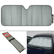 Carxs Gray Sun Shade Jumbo Reversible Front Windshield Window Protective Cover