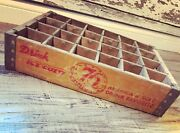 Rare Vintage Ice Cold 76 Americaand039s Soft Drink Wood Soda Pop Crate Ft Wayne In
