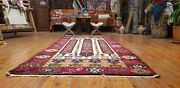 Exquisite Antique 1948and039s Wool Pile Natural Dye Nagorno-karabahk Rug 3and0396andtimes7and03910
