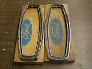 Nos Oem 1967 Ford Galaxie Station Wagon Tail Light Bezels Trim Country Squire