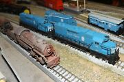 Lancaster And Chester Gp-38 3821 N-scale Custom Painted