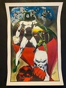 1970s-1980s Marvel And D.c. 7ct Litho's Inc 1974 Deadman Poster By Neil Adams