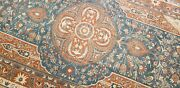 Masterpiece Antique Muted Teal Blue Wool Pile Nagorno-karabahk Rug 5and0392andtimes11and039