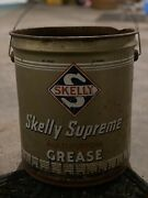 Rare Vintage Advertising 35 Lb Skelly Supreme Grease Can Skelly Oil Company 50's