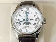 Longines Master Collection Retrograde Moon Phase Self Winding Waterproof Ss F/s