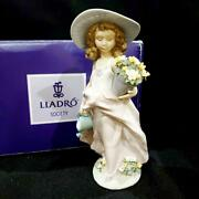 Lladro Dreaming Model 7676 Discontinued Rare Ornament 1999 Vintage F/s From Jpn