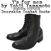 Yand039s For Men By Yohji Yamamoto 1990and039s Military Boots Black Menand039s Us10 Japan F/s