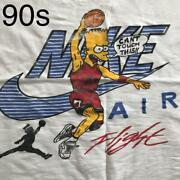 Mc Hammer Simpsons Bart Menand039s 90s Vintage Print T-shirt Menand039s Size Xl White F/s