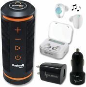 Bushnell Wingman Golf Gps Speaker And White Earbuds And Wall/car Chargers Bundle