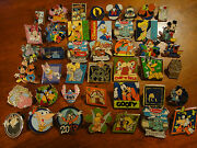 Authentic Disney Pin Trading Lot 100 Pins Cast Chaser Ariel Stitch Star Wars Set
