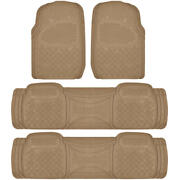 Suv Floor Mat For 3 Row Car All Weather Duty Trimmable Semi Custom Fit Beige