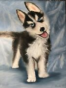 Oil Paintings Original Cute Puppy Size 18/24