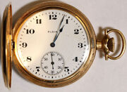 Elgin Grade 344 Pocket Watch 12 Size 17 J. 14k Hunting - Working