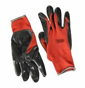Grease Monkey General Purpose Nitrile Coated Work Gloves, Size Large - Pack O...