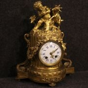 Antique Clock Furniture In Gilt Bronze French 800 19th Century Object