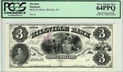 3 Proof 18xx The Millville Bank New Jersey Pcgs Vcn64 Ppq Obsolete Banknote