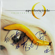 A Perfect Circle 3 Keenan, Howerdel And Freese Signed Album Cover W/ Vinyl Bas