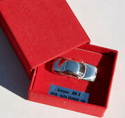 Vintage Silver Car Alfa Romeo 156 Europe Car Number 1 1998 Italy 925 Sterling