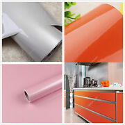 Glossy Peel And Stick Wallpaper Self Adhesive Vinyl Kitchen Cabinet Wall Sticker