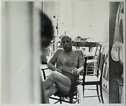 Pablo Picasso - Photo In His Studio - Cannes France - Andre Villers