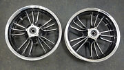 Indian Scout 16 Inch Black/machined Motorcycle Wheels Rims Front / Rear 16x3.5