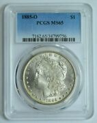 1885-o Pcgs Ms65 Morgan Dollar Silver Better Date 1.00 Graded Us Coin