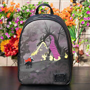 Nwt Loungefly Disney Villains Maleficent Dragon Mini Backpack New With Tags
