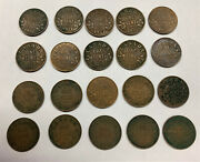 Canada King George V 1931 Small Cent Pennies Lot Of 20 Pieces Better Year Vg-vf