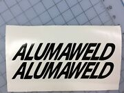 Pair Of 1.5andrdquo High Alumaweld Boat Hull Decals. Black Available In Other Colors